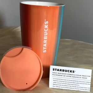 12 oz STARBUCKS SUMMER EDITION CERAMIC TUMBLER/CUP